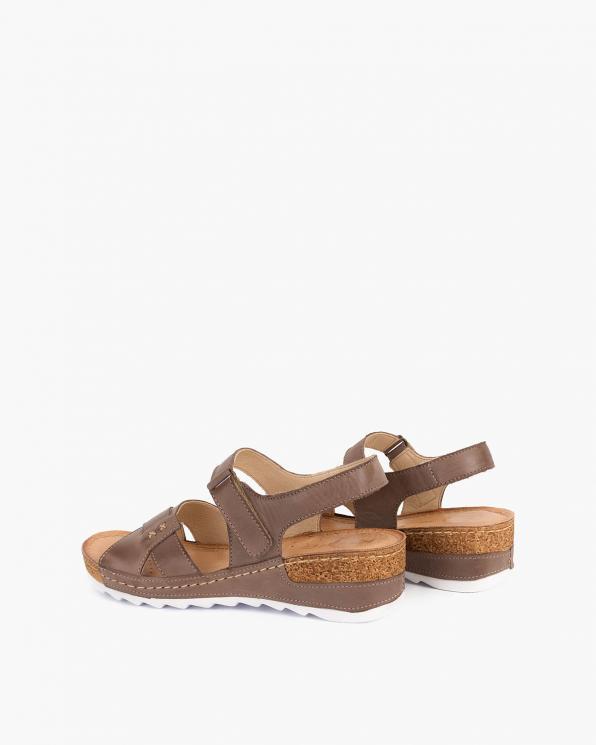 Brązowe sandały damskie skórzane  110-620-CAPUCCIN