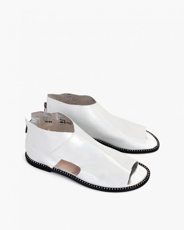 Srebrne sandały damskie nubukowe saszki  024-2879-8781