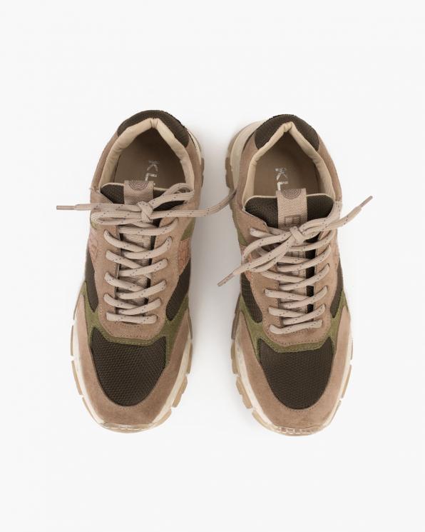 Wielokolorowe sneakersy zamszowe  116-368-008-ZIEL