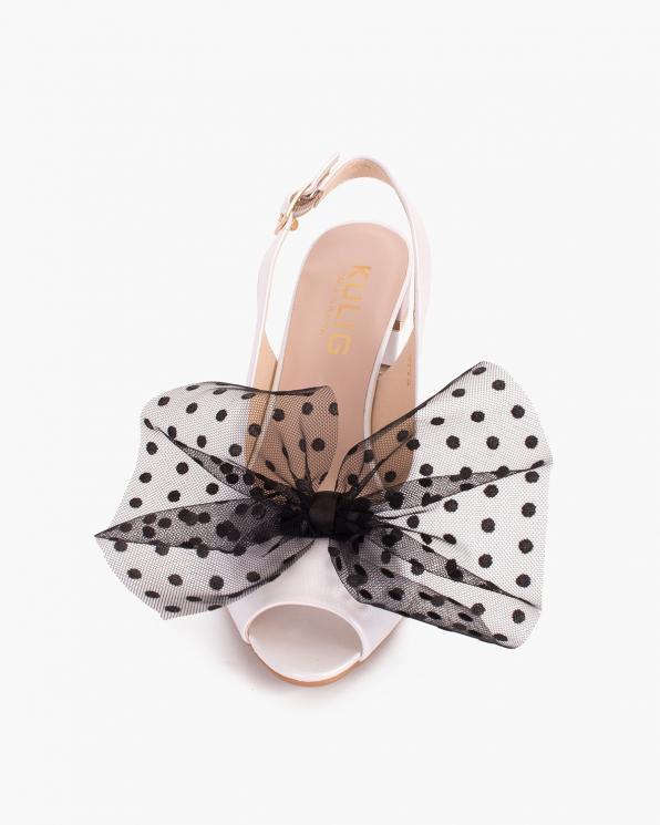 Czarne kokardki tiulowe do butów  COQ-1247-CZARNE
