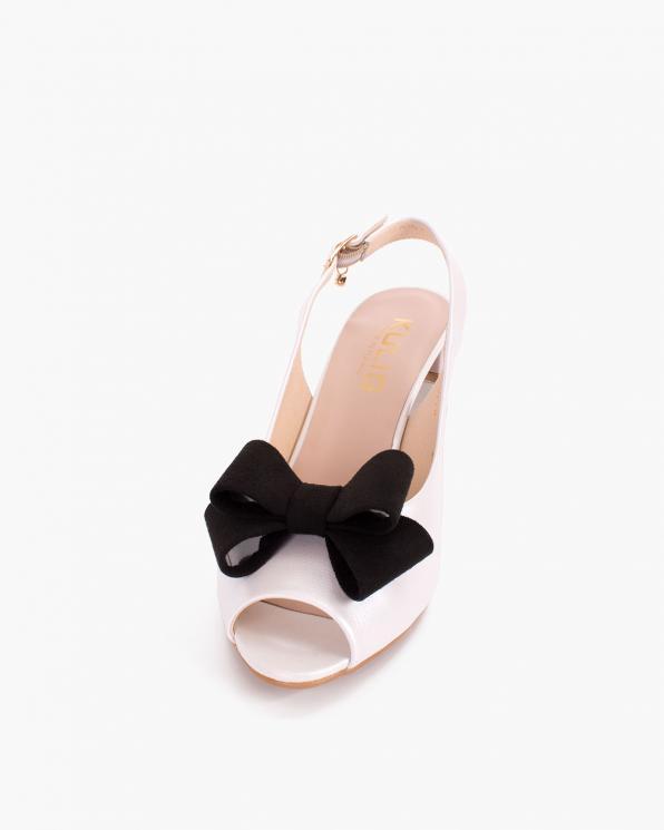 Czarne kokardki zamszowe do butów  COQ-1164-M