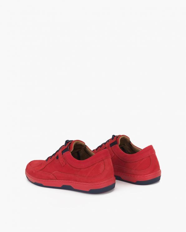 Czerwone półbuty męskie nubukowe  071-667-MALBORO