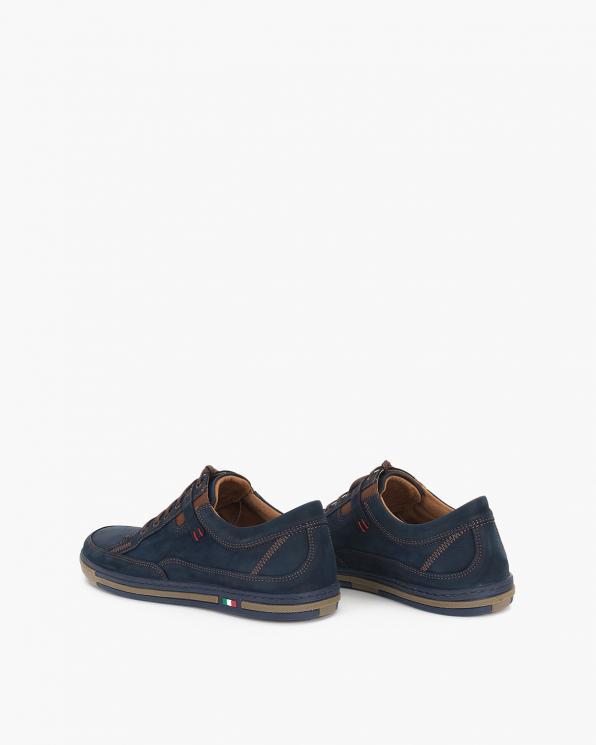 Granatowe półbuty męskie nubukowe  071-667-BLUE