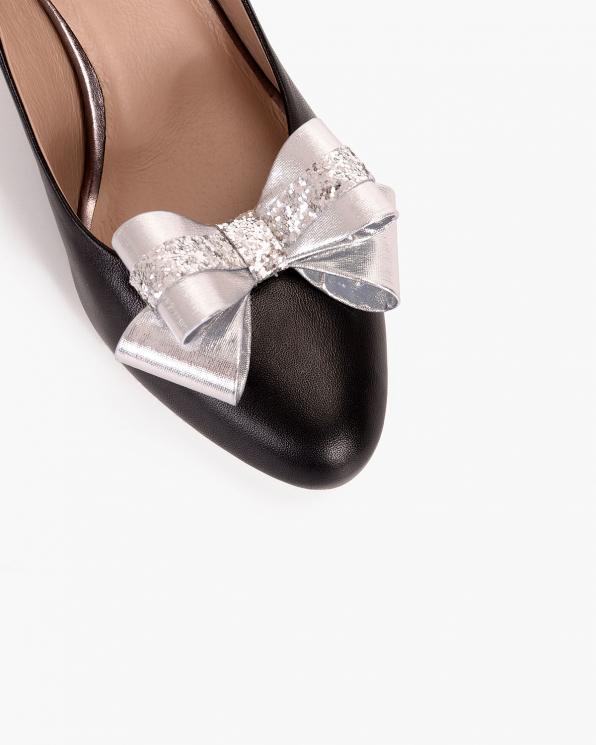 Srebrne kokardki do butów  COQ-872-SILVER