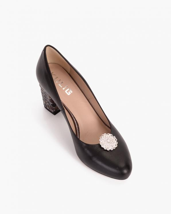 Złote klipsy do butów z cyrkoniami  COQ-606