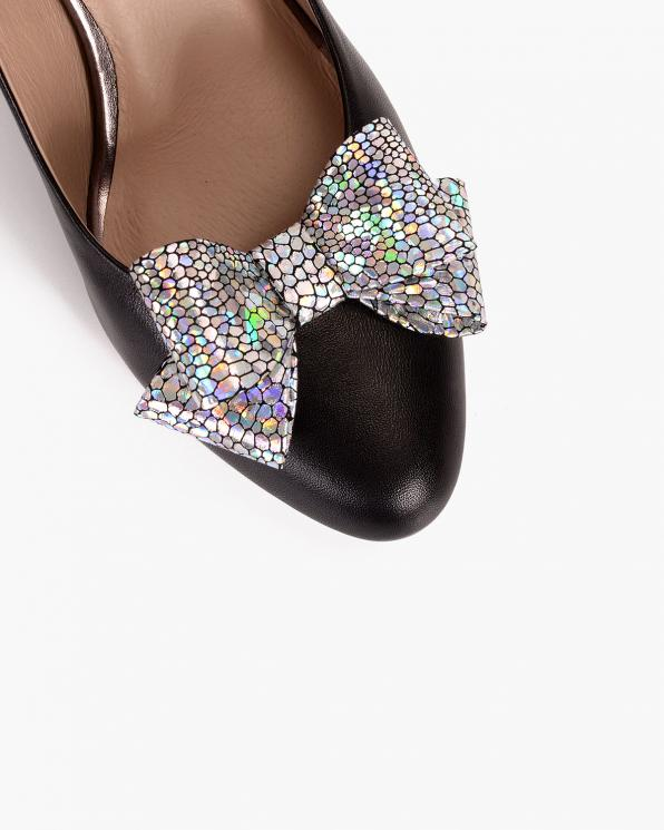 Srebrne kokardki do butów holograficzne  COQ-602