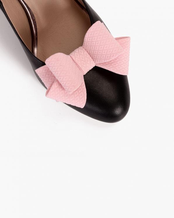 Pudrowe kokardki do butów  COQ-456-SWEET