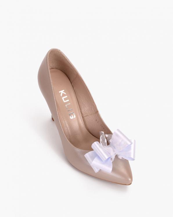 Białe kokardki do butów  COQ-1245-DOTS
