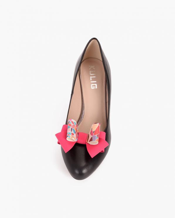 Różowe kokardki do butów z motywem  COQ-1241-MOZAIKA