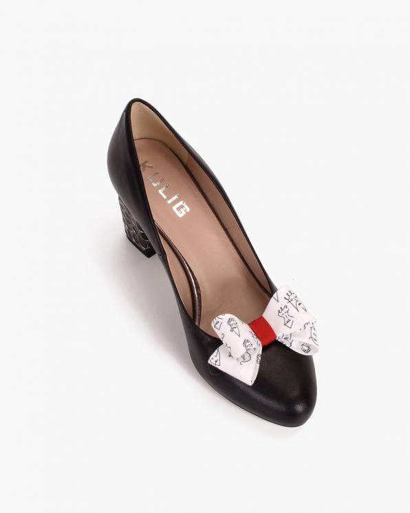 Białe kokardki do butów z motywem  COQ-1166-FACES