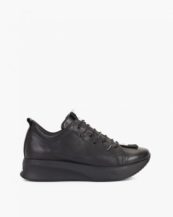 Czarne sneakersy skórzane  108-605-CZARNY