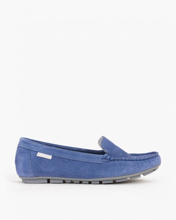 Niebieskie mokasyny welurowe  005 -03171-N-194