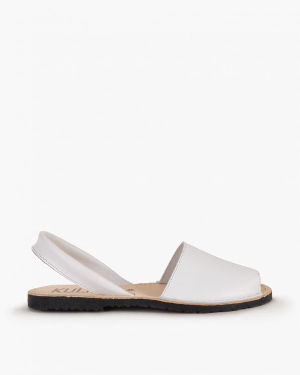 Białe sandały skórzane  009 -102-BIAŁY