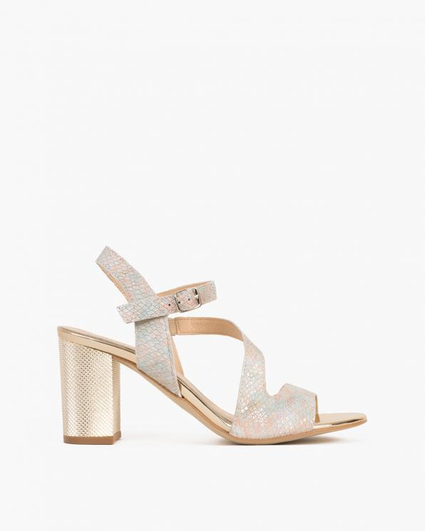 Wielokolorowe sandały skórzane z motywem  058 4933-A 49