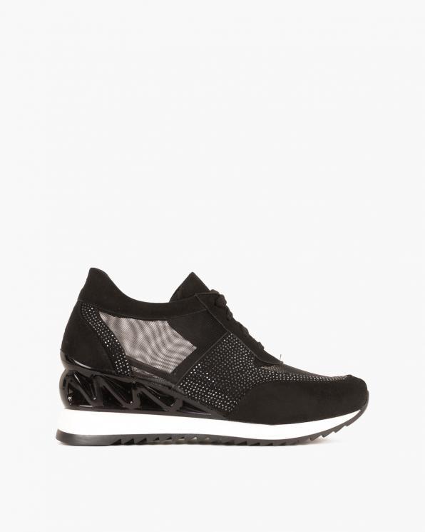 Czarne sneakersy z siatką  095-4389-CZARNY