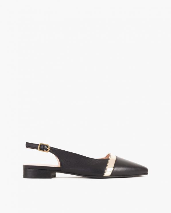 Czarne sandały damskie skórzane  084-7004-CZARNY