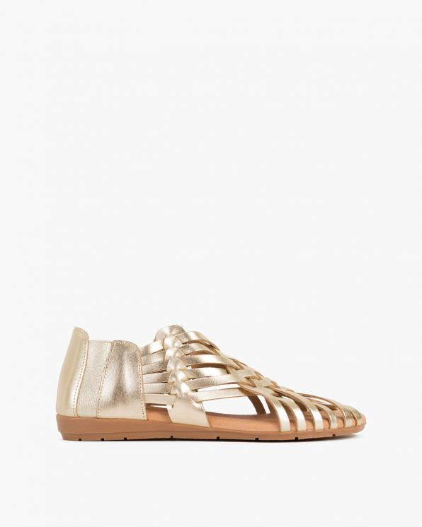 Złote sandały damskie skórzane  009-4221-ZŁOTY