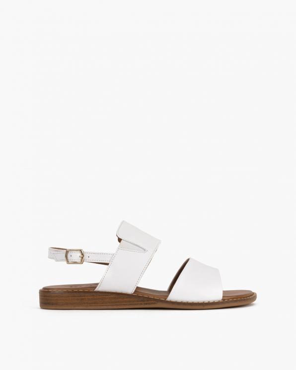 Białe sandały damskie skórzane  086-2372-073
