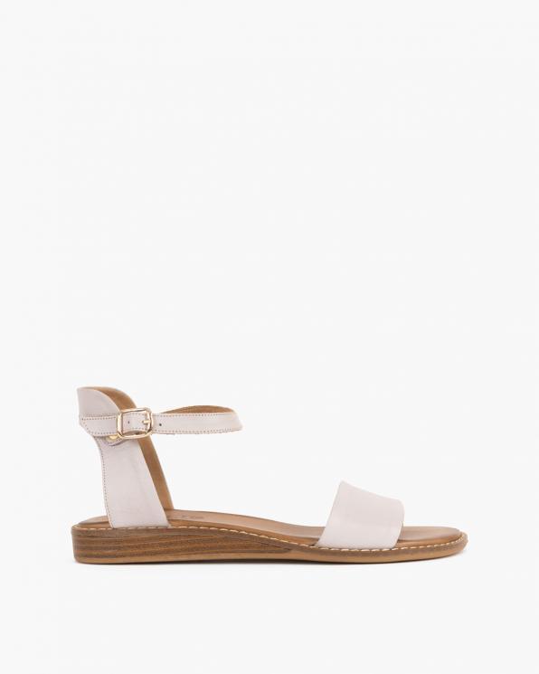Beżowe sandały damskie skórzane  086-2350-084