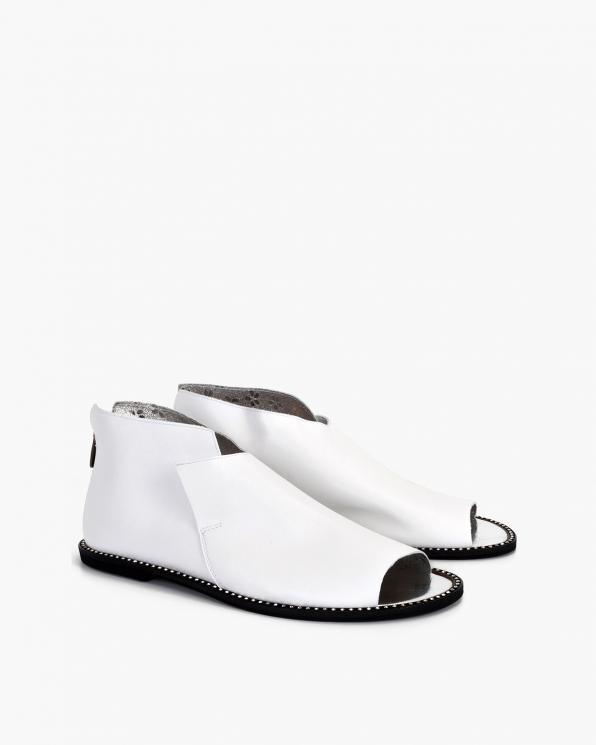 Białe sandały damskie skórzane saszki  024-8679-622
