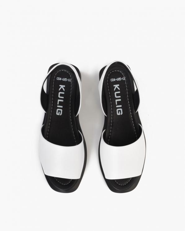 Białe sandały damskie skórzane  108-685-BIAŁY