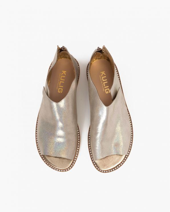 Srebrne sandały damskie nubukowe saszki  024-8679-7781