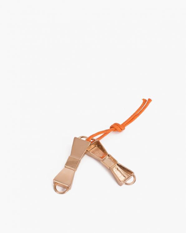 Złote kokardy metalowe na sznurówki COQ-1261