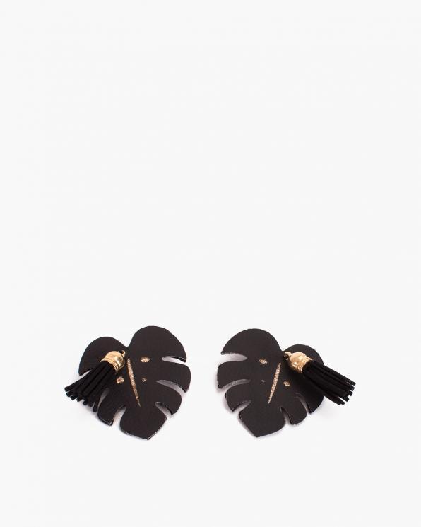 Czarne klipsy listki do butów  COQ-1179