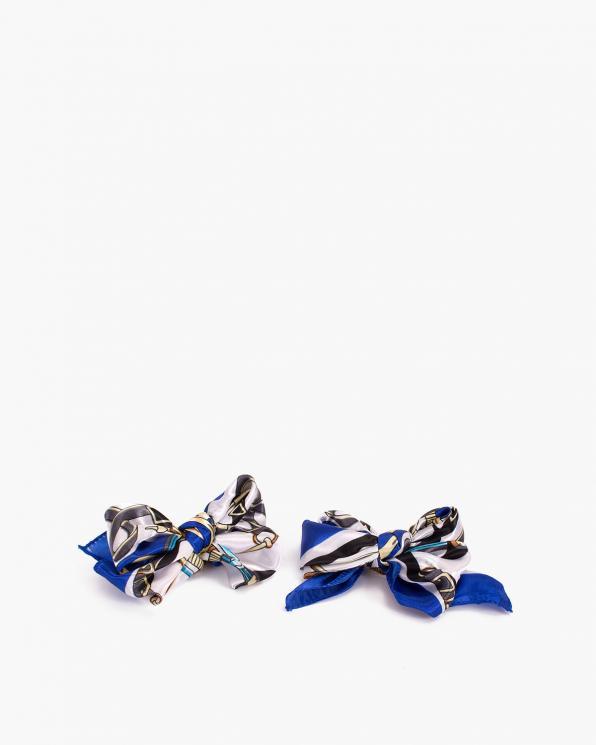 Kobaltowe kokardki apaszki do butów  COQ-1145