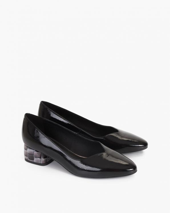 Czarne czółenka damskie lakierowane 012-995-CZARNY