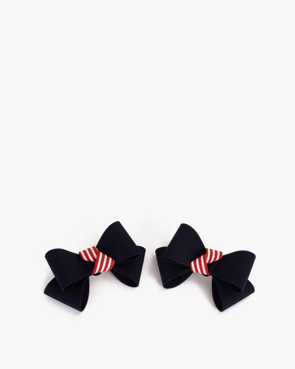 Czarne kokardki do butów  COQ-878-TWIRLY