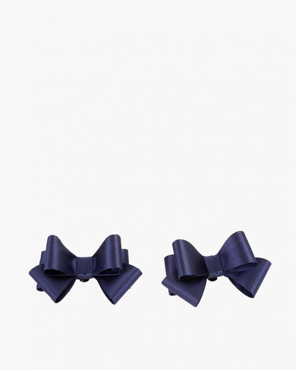 Granatowe kokardki do butów  COQ-691-NAVY