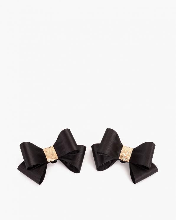 Czarne kokardki do butów  COQ-612-BLACK