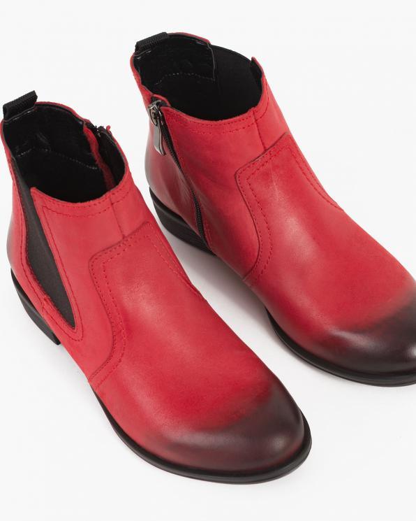 Czerwone sztyblety damskie nubukowe  048 -1901-CZERWO