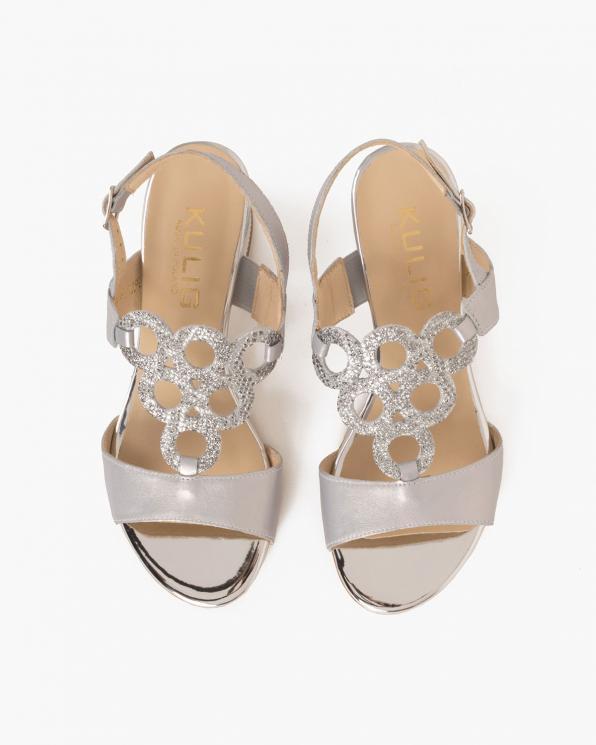 Srebrne sandały skórzane  058 2763-P87