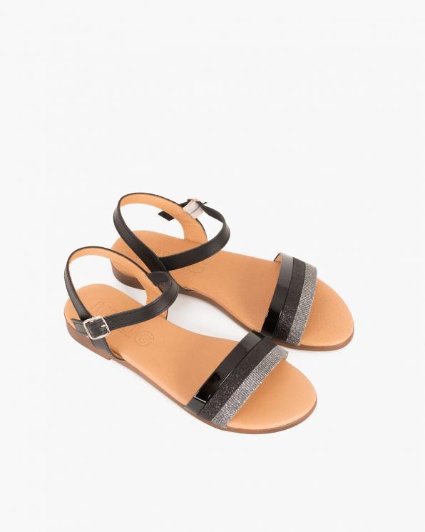 Czarne sandały skórzane  009 6919-CZARNY