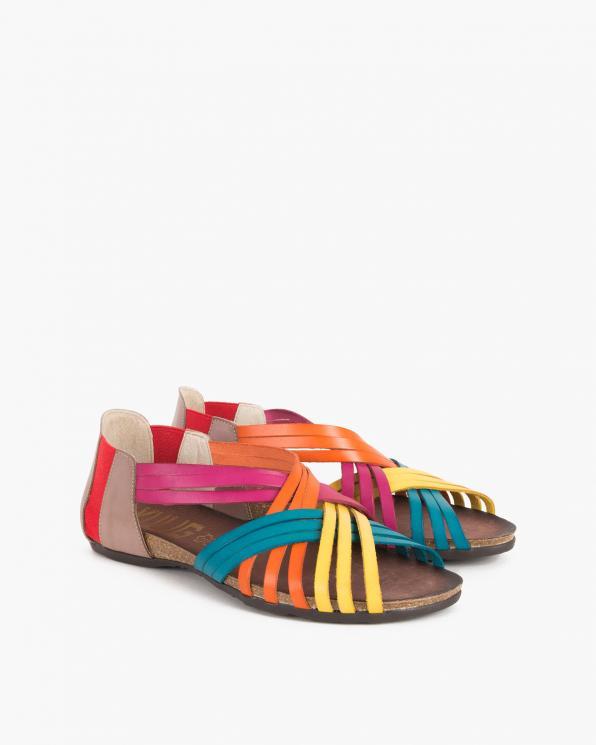 Wielokolorowe sandały skórzane 009 4021-MULTI