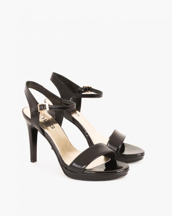 Czarne sandały skórzane na szpilce 024 3619-8721