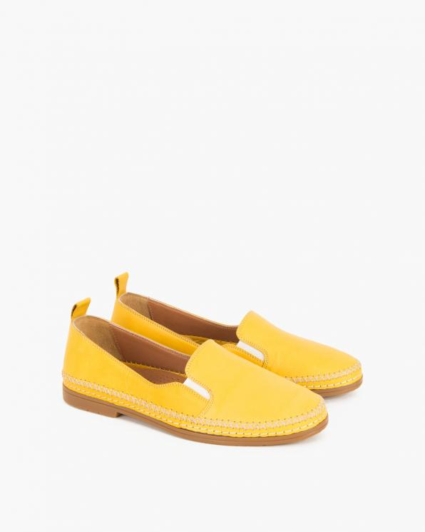 Żółte baleriny skórzane  078 618-YELLOW