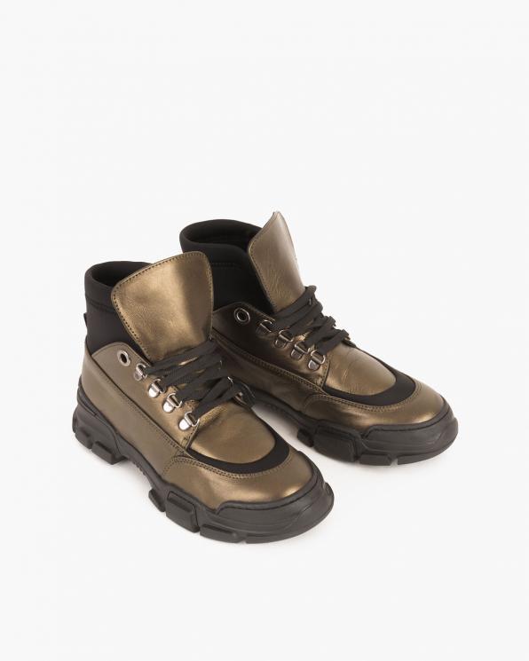 Oliwkowe sneakersy skórzane  079 8169-OLIWKOW