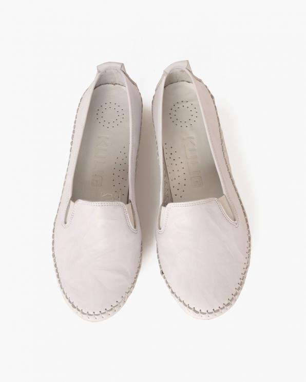 Białe mokasyny damskie skórzane  097-435-BIAŁY