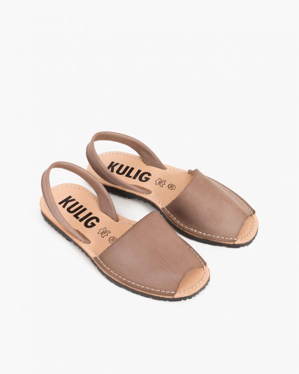 Beżowe sandały skórzane  009-102-TOUPE