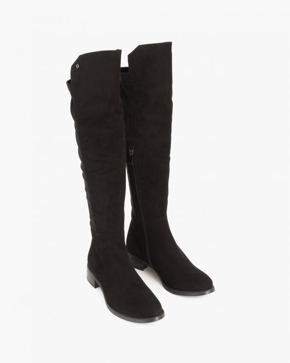 Czarne kozaki damskie zamszowe  005-507-200-ZAMS