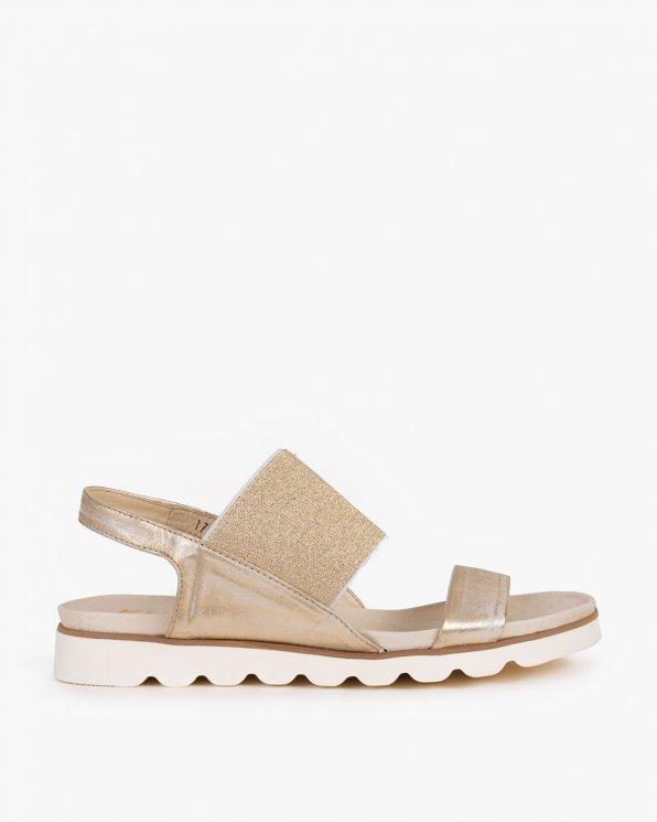 Złote sandały skórzane 005 -56171-ZŁOTO