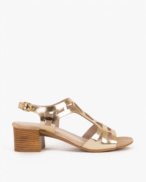 Złote sandały skórzane 005 -55171-ZŁOTO